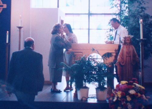 Sierva de Dios María Esperanza y Her. Carol Da Vinci, Igl. Saint Paul, Tampa, FL, EE.UU. (26-02-1994)