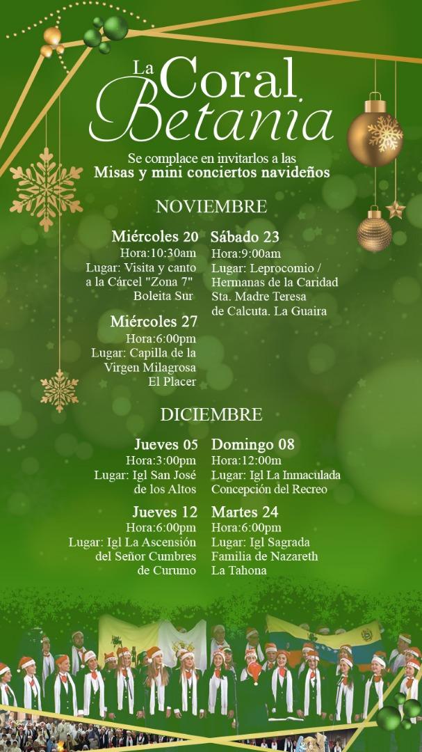 Conciertos Coral Betania Navidad 2019